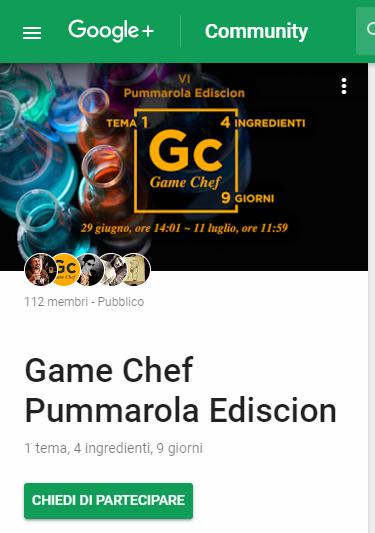 Game Chef Pummarola Ediscion: Community Google+