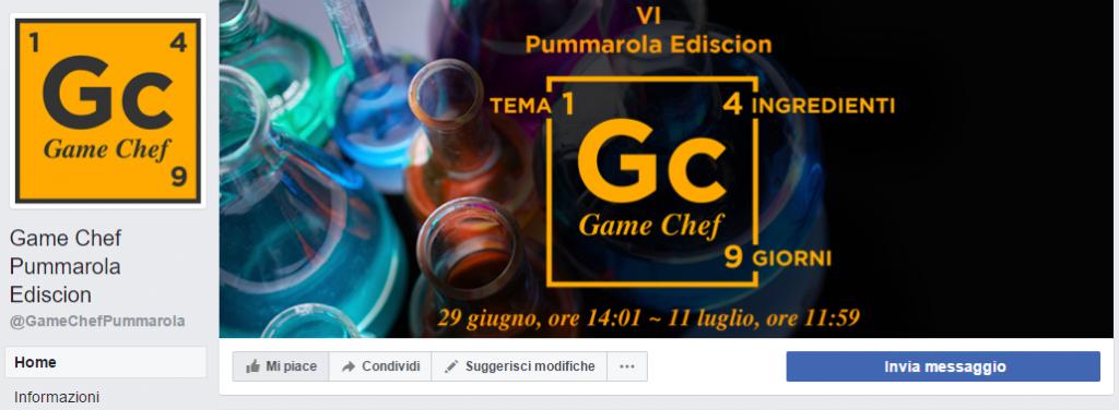 Game Chef Pummarole Ediscion: Pagina Facebook