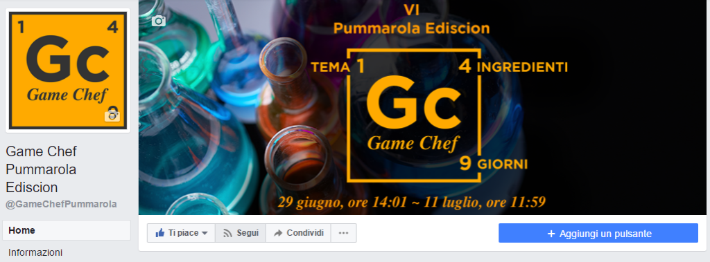 Game Chef Pummarola Ediscion: Segui pagina Facebook