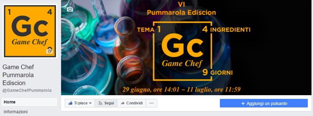 Game Chef Pummarola Ediscion: Segui pagina Facebook