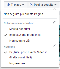 Game Chef Pummarola Ediscion: Notifiche pagina Facebook