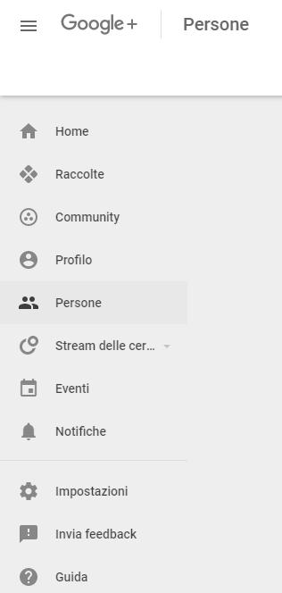 Sezione Persone su Google+