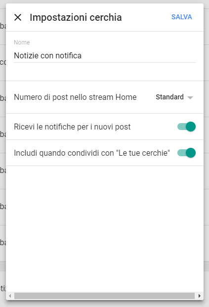 Google+: Notifiche per la cerchia