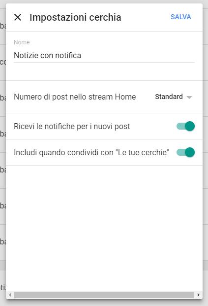 Google+: Notifiche per la cerchia